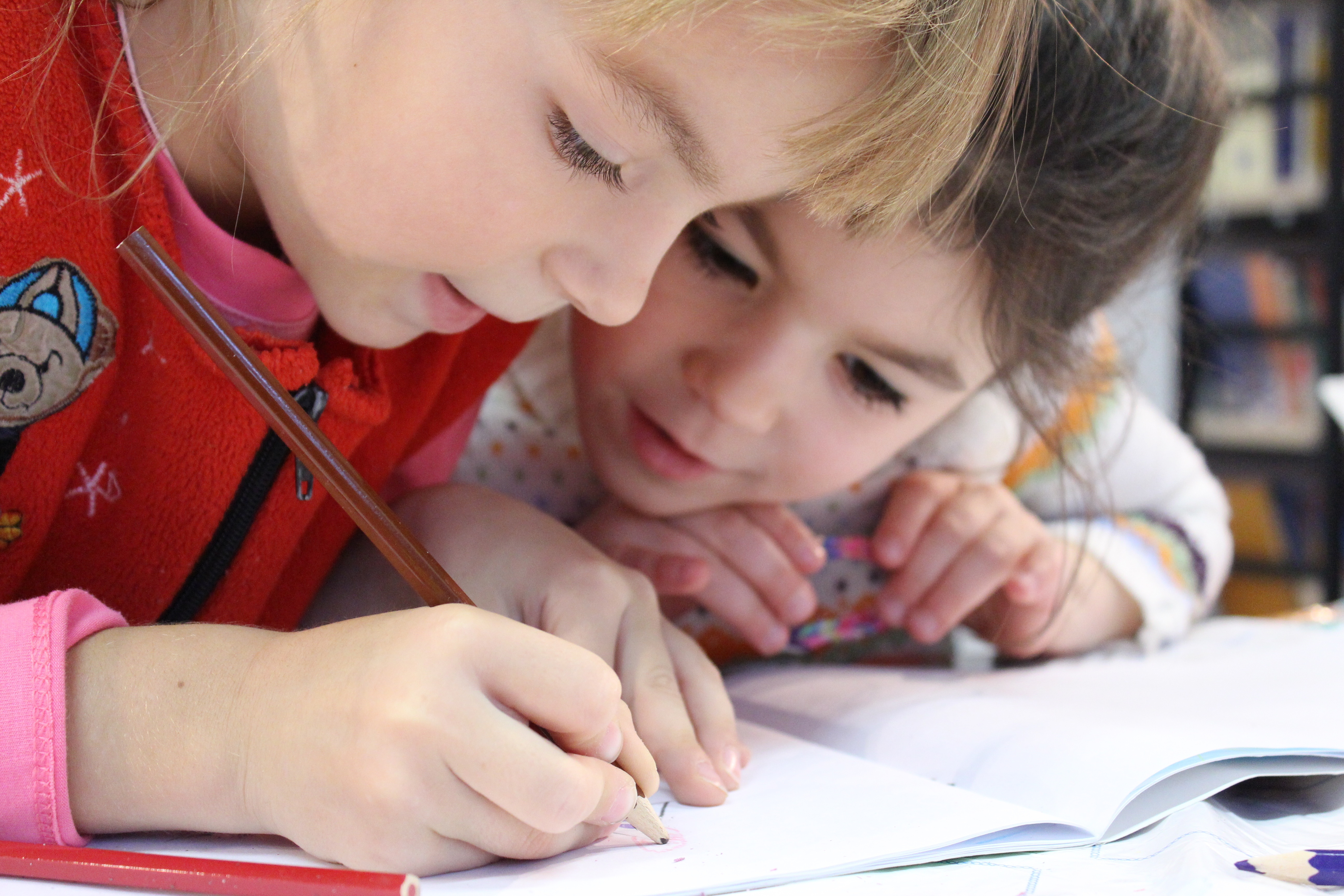 Kids and pencil